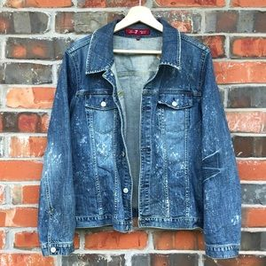 7 For All Mankind Jackets & Coats - 7 For All Mankind Denim Jean Jacket Plus Size 1820